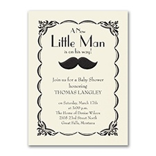 Little Man - Baby Shower Invitation