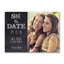 Chalkboard Style - Photo Save the Date