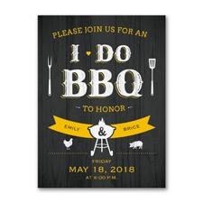 Night Before BBQ - Rehearsal Dinner Invitation