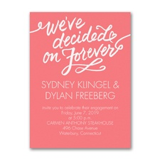 Decided on Forever - Engagement Party Invitation