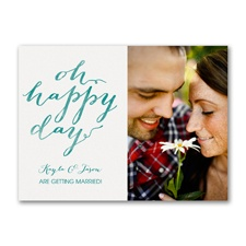 Oh Happy Day - Photo Engagement Party Invitation