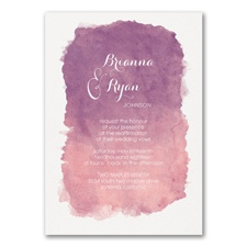 Artistic Watercolor - Vow Renewal Invitation
