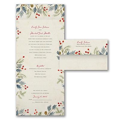 Lovely Winter Seal 39 N Send Invitation Wedding Invitations PaperR