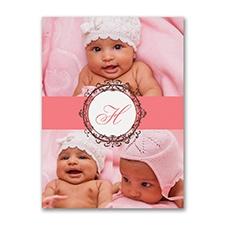 Little Monogram - Photo Birth Announcement
