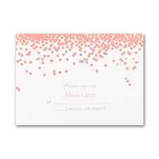 Confetti Shines - Response Card and Envelope