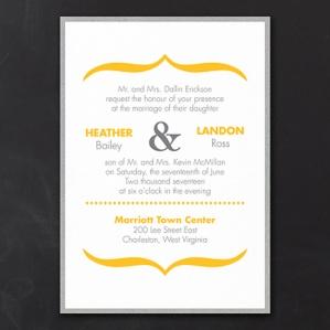 Vivid Accents - Layered Invitation