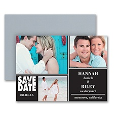 Collage Chic - Photo Save the Date Magnet