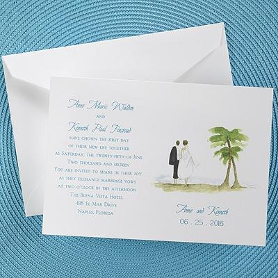 Wedding stuff island wedding invitation the office gal island wedding invitation stopboris Choice Image