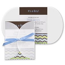 ZigZag Boy Birth Announcement