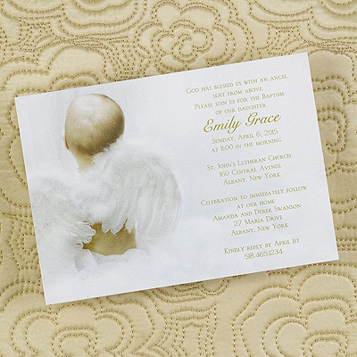 Angel from Heaven - Shimmer Invitation