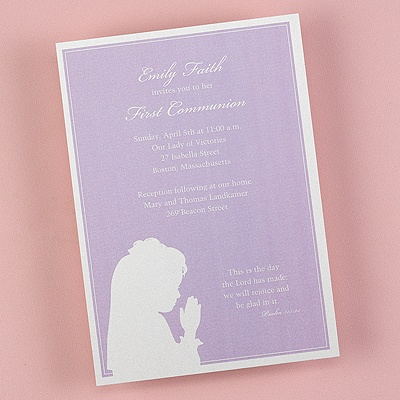 Sacred Prayer - Purple Shimmer Invitation