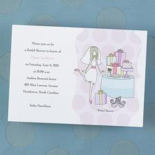 Bridal Shower Bliss Invitation - Shimmer