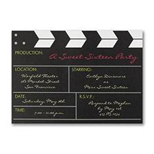 Movie Production - Birthday Invitation - Bright White