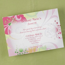 Blooming Bash - Bright White Invitation