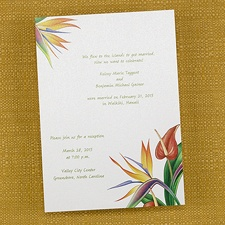 Creative invitation wording ideas and announcement wordings samples tropical flowers luah party invitations card stopboris Gallery