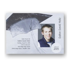 graduation photo invitations with picture