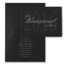 Shaded Year - Announcement - Black