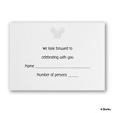 Classic Mickey - Respond Card
