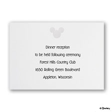 Classic Mickey - Reception Card