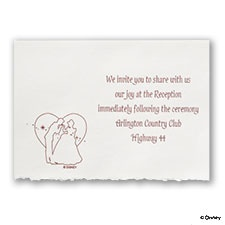 A Silhouette of Love - Reception Card