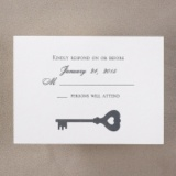 Key to Love - Respond Card and Envelope