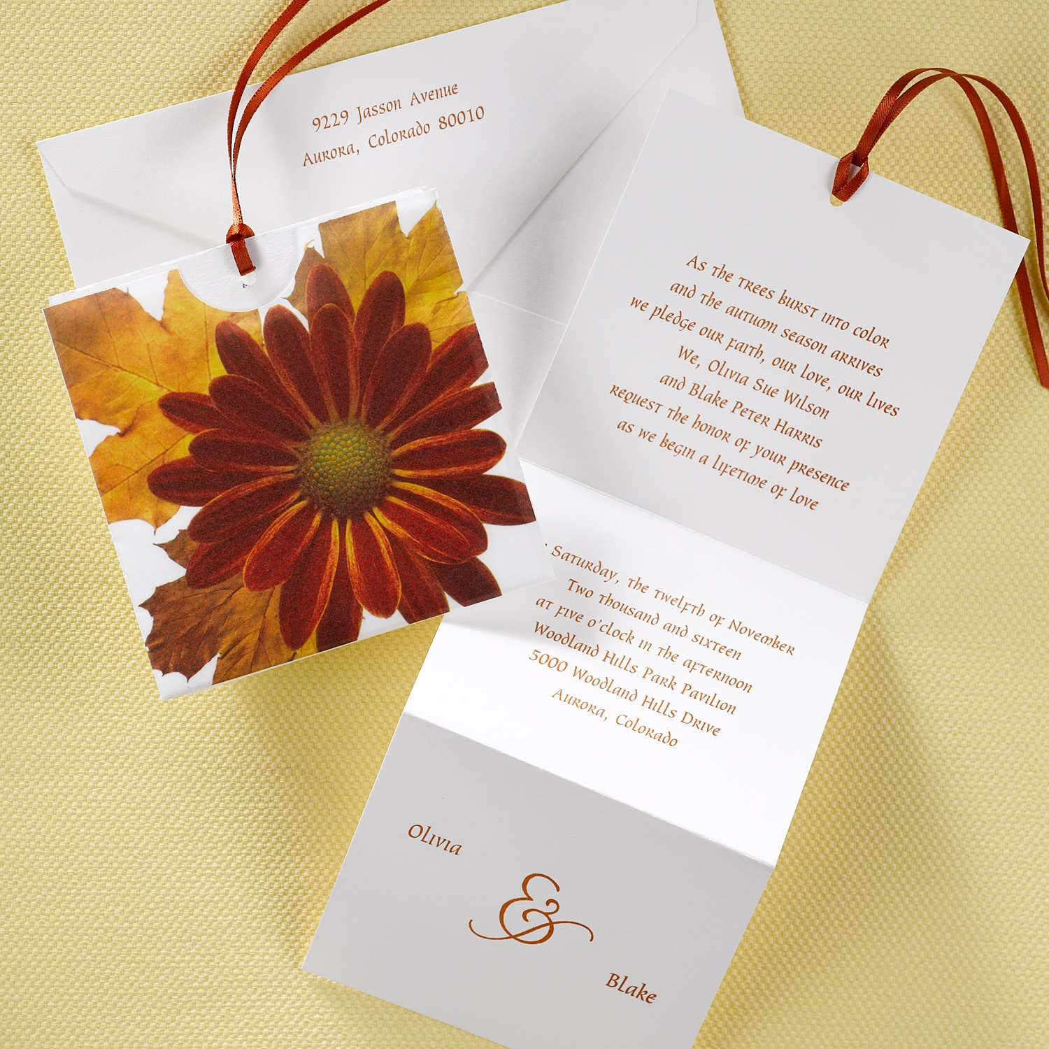 Carlson Craft Pocket Wedding Invitations: See Paper…touch Paper…fall In Love With