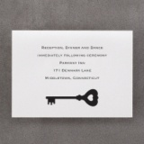 Key to Love - Reception Card