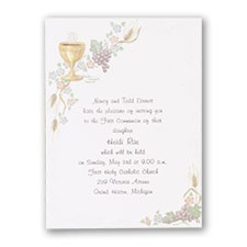 Religion Invitation Announcement Cards for Religious Occasions
