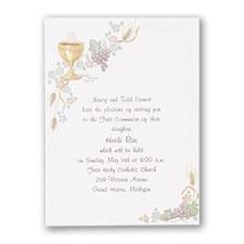 Chalice and Grape - Invitation