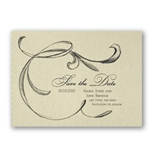 Tailored Horizontal - Save the Date Card - Gold