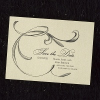 Golden Reminder Save the Date Card
