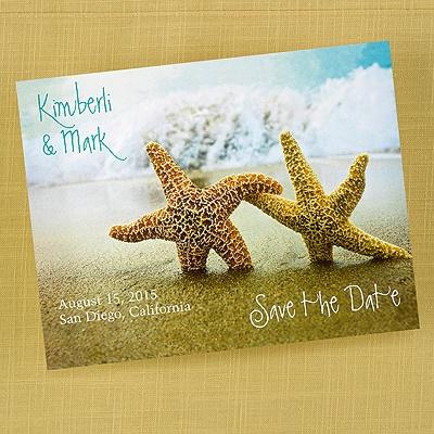 Wedding Stuff Beach Wedding Starfish Save the Date Cards – Save the Date Cards Beach Wedding