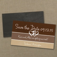 Color Block Save the Date Magnet