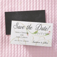 Swirled Rose Save the Date Magnet