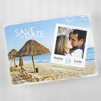 On the Beach Save the Date Card Wedding
