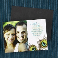 Feathered Save the Date Magnet