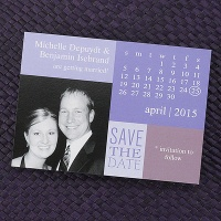 Up Close Save the Date Magnet