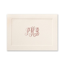 Embossed Panel - Note Folder - Delicate - Ecru