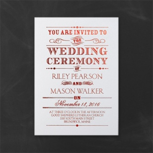 Informal Wedding Invitation with adorable invitation template