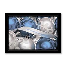 Silver Ribbon Holiday Card