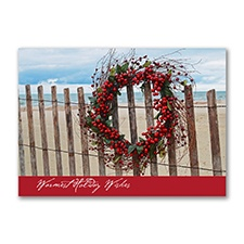 Warm Holiday Wishes Holiday Card