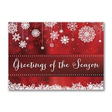 Seasonal Snowflakes Postcard