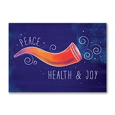 Colorful Shofar Holiday Card
