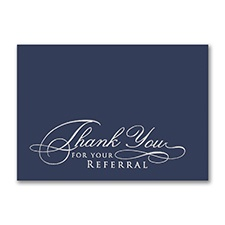 Thank You For Your Referral Card