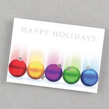 Rays of Color Holiday Card