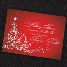Starlit Tree Holiday Card
