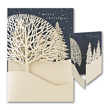 Christmas Treeline - Holiday Card