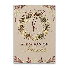 Acorn Wreath - Thanksgiving Card