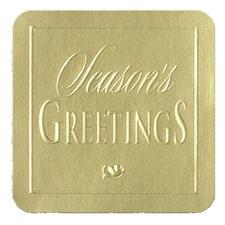 Gold Season's Greetings Seal