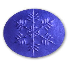 Blue Snowflake Seal